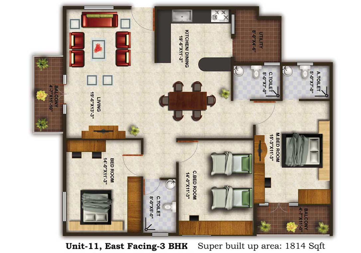 Tranquil heights floor plan for 1 bedroom hall kitchen plan